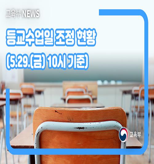 (교육부) 등교수업일 조정현황(5월 29일 기준)