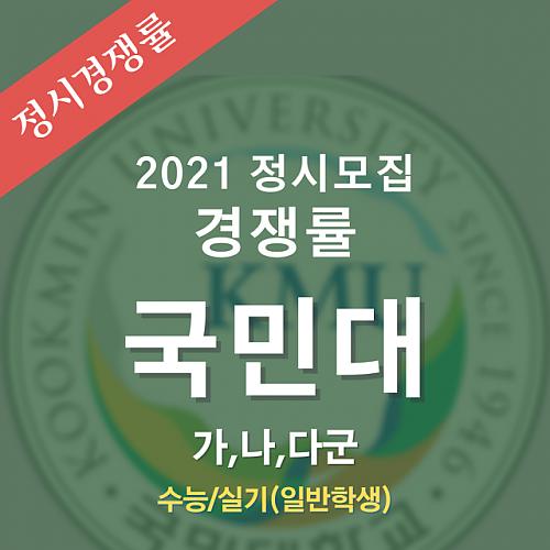 2021학년도 정시모집 국민대 경쟁률 안내