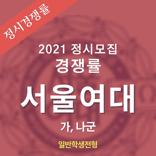 2021학년도 정시모집 서울여대 경쟁률 안내